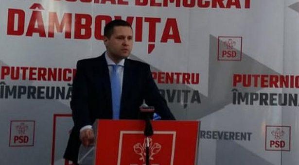 DEPUTATUL CORNELIU ŞTEFAN, PREŞEDINTELE PSD DÂMBOVIŢA, CERE DEMISIA PREFECTULUI