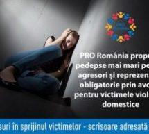 OANA VLĂDUCĂ, DEPUTAT: PRO ROMÂNIA ANUNŢĂ ÎNREGISTRAREA UNUI PROIECT DE LEGE PENTRU VICTIMELE VIOLENŢEI DOMESTICE